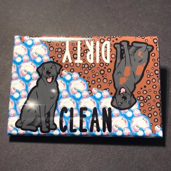 Samoyed Clean Dirty Dishwasher Magnet
